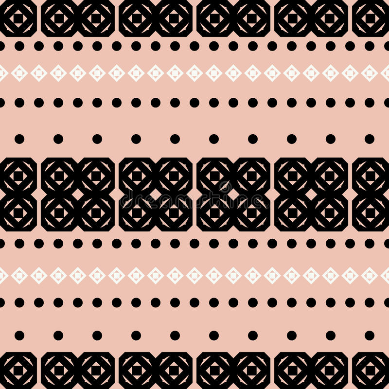 Abstract seamless pattern. Geometric abstract seamless pattern. Lines made of geometric shapes vector illustration