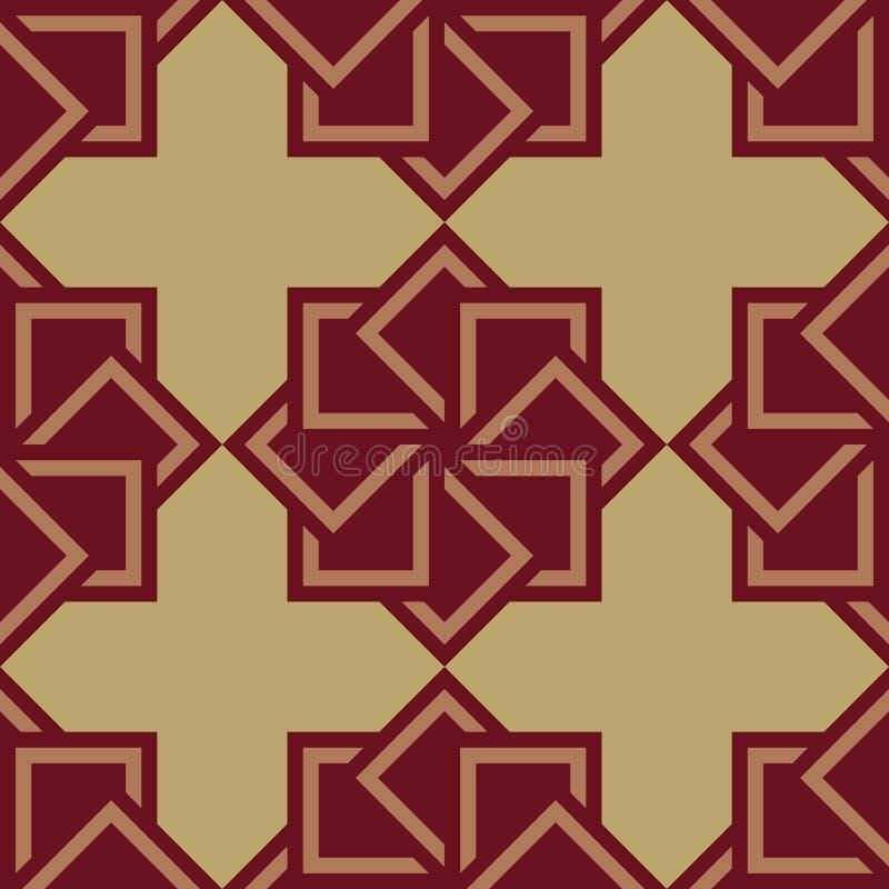 Abstract seamless pattern Geometric shape triangle mosaic stock illustration