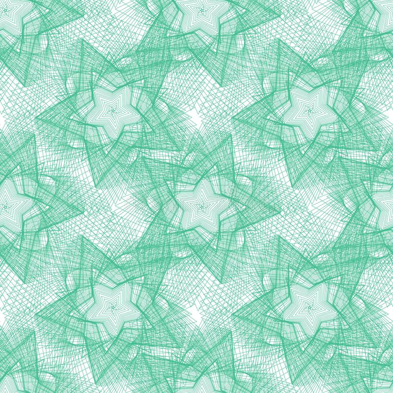 Abstract seamless pattern green lines on a background Seamless pattern of stars 皇族释放例证