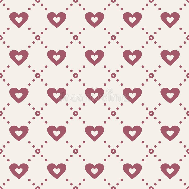 Abstract seamless pattern with hearts vector illustration