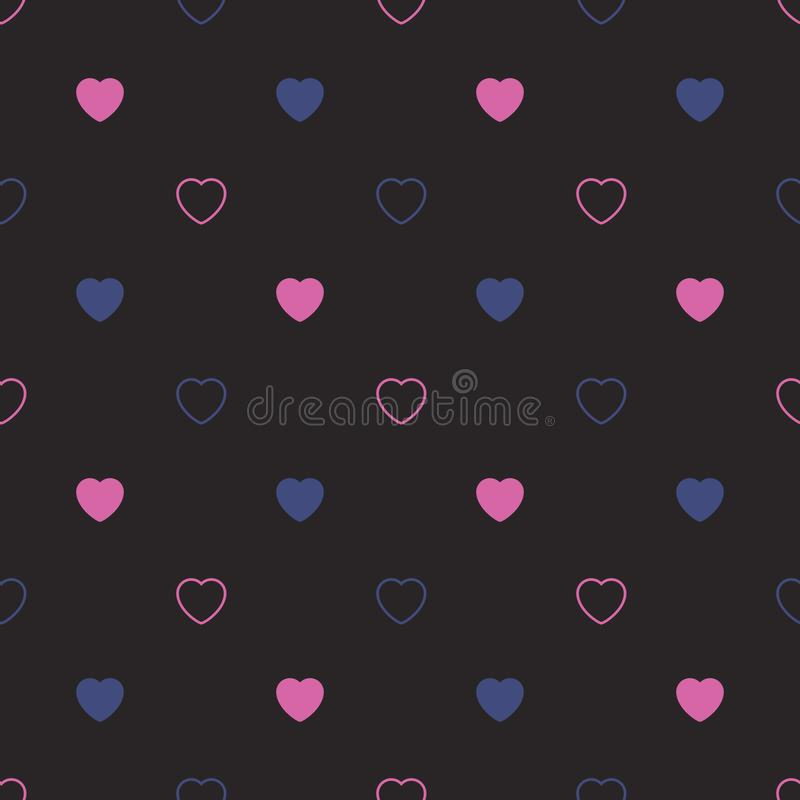 Abstract seamless pattern with hearts. Valetines day, birthday o. R girlish design royalty free illustration