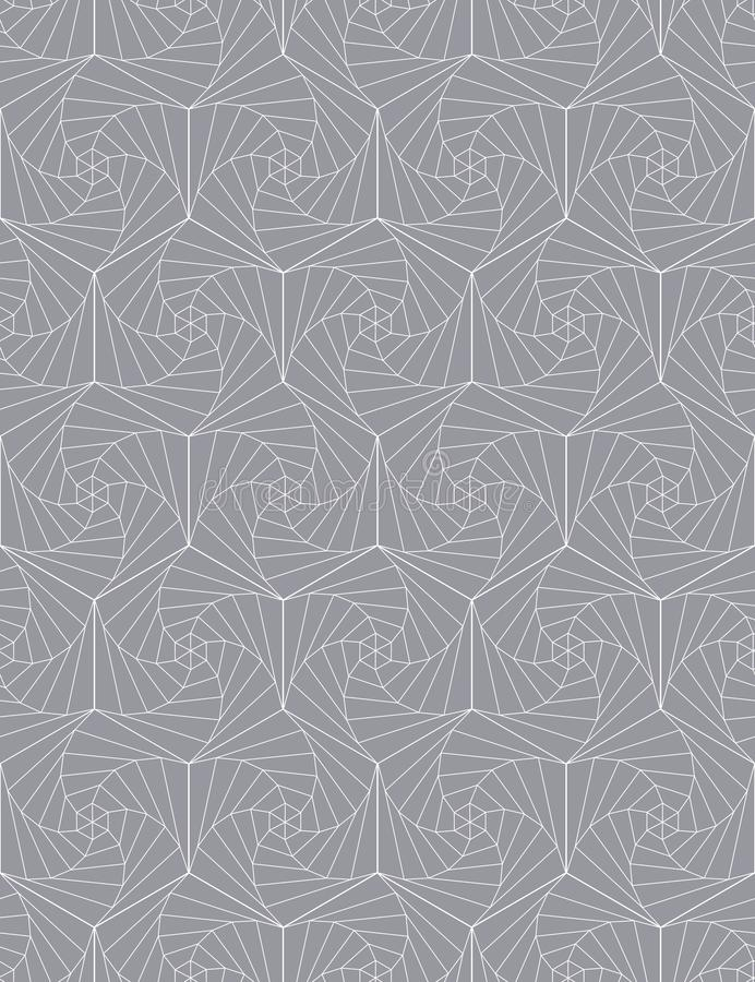 Abstract seamless pattern of hexagons. Optical illusion of rotation. vector illustration
