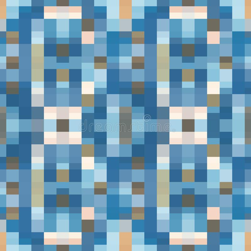 Abstract seamless pattern illustration of rectangular optical illusion tiles. Abstract seamless pattern with layered squares, blocks and tiles. Vector royalty free illustration