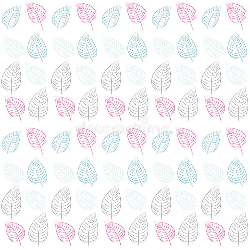Download Abstract Seamless Pattern. Leaves.Blue, Pink, Gray Stock Vector - Image: 25632965