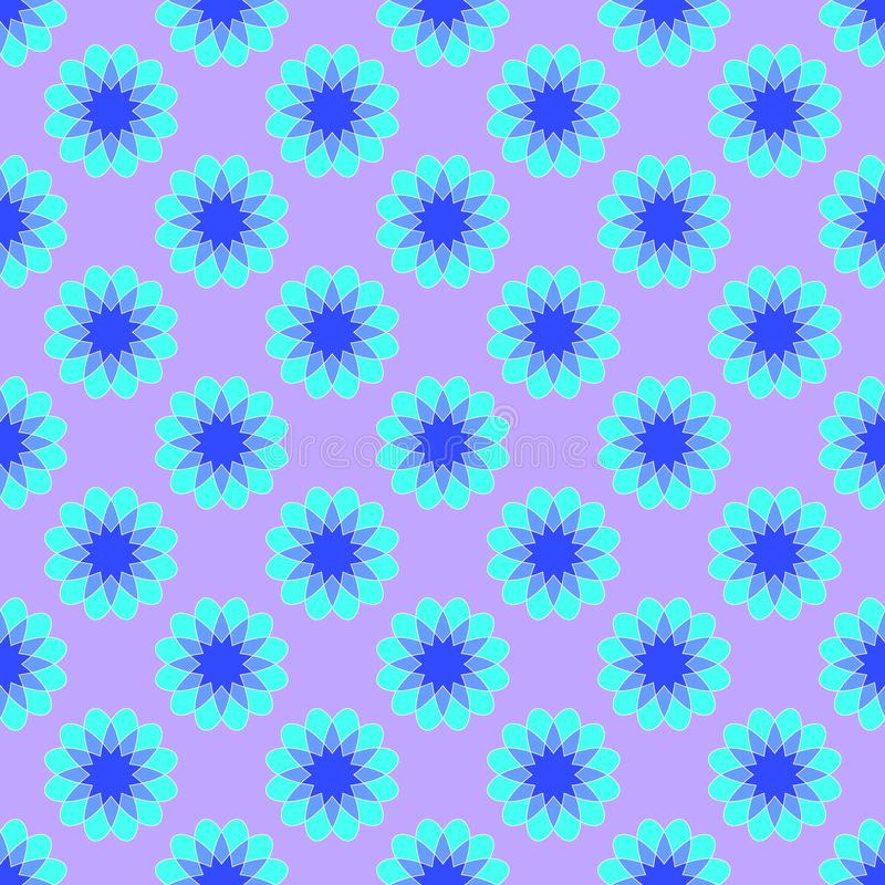 Abstract pattern on the light violet background stock illustration
