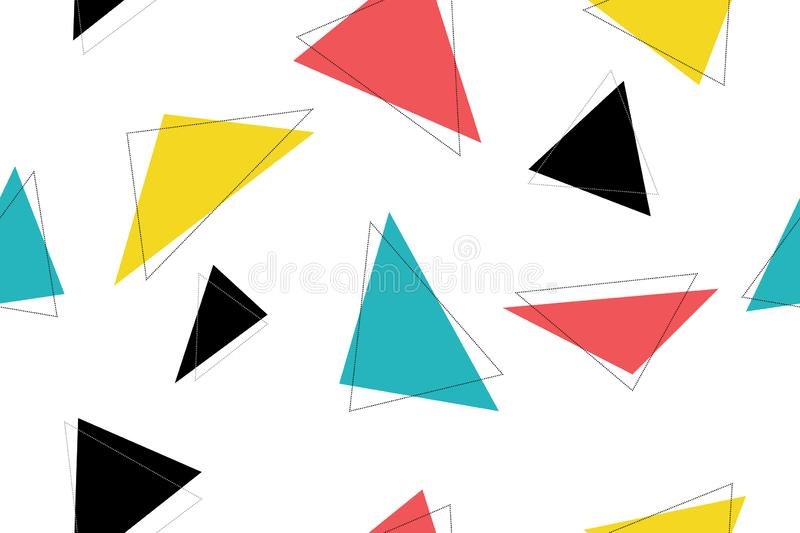 Abstract, seamless pattern made with colorful triangles royalty free illustration