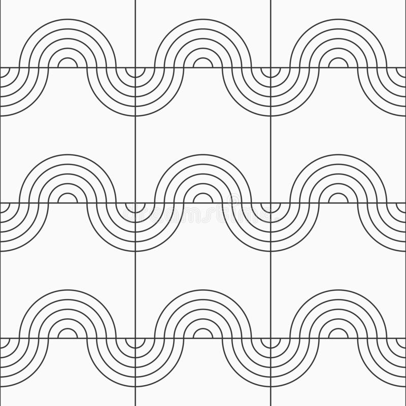 Abstract seamless pattern. Modern stylish linear texture. Repeating geometric tiles of semicircles royalty free illustration