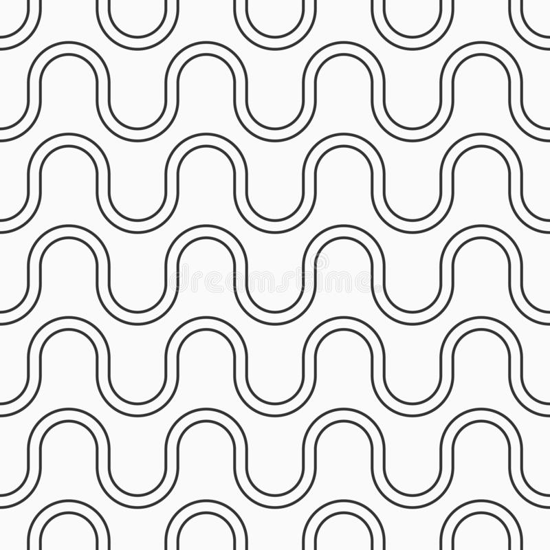 Abstract seamless pattern. Modern stylish texture. Regular repeating smooth lines, curved shapes. Linear style. royalty free illustration