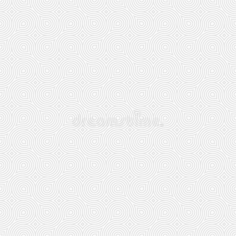 Abstract seamless pattern. Modern stylish texture with regularly repeating geometrical shapes, smooth lines. royalty free illustration