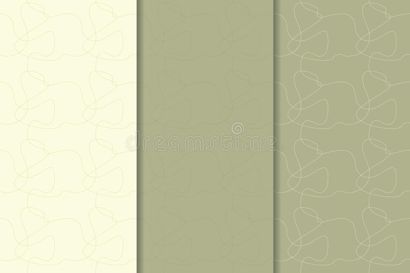 Abstract seamless pattern. Olive green background vector illustration