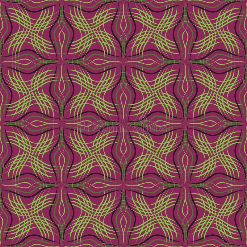 Abstract seamless pattern purple green vector illustration