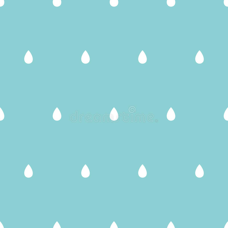 Abstract seamless pattern with rain drops aligned. Background in blue colors stock illustration