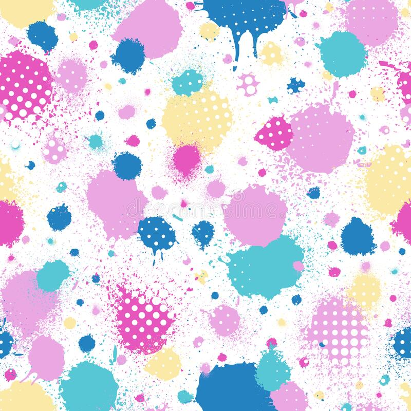 Free Abstract Seamless Pattern. Random Grunge Background. Repeated Pattern Brush Stroke. Modern Ink Texture. Repeating Watercolor. Art Royalty Free Stock Image - 221517906