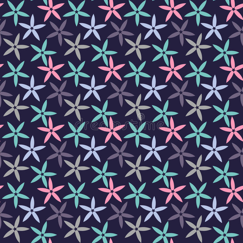 Download Abstract Seamless Pattern With Simple Flowers Floral Wallpaper Cute And Leaves Stock