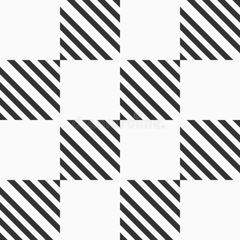 Abstract seamless pattern of striped squares. Modern stylish geometrical texture. royalty free illustration