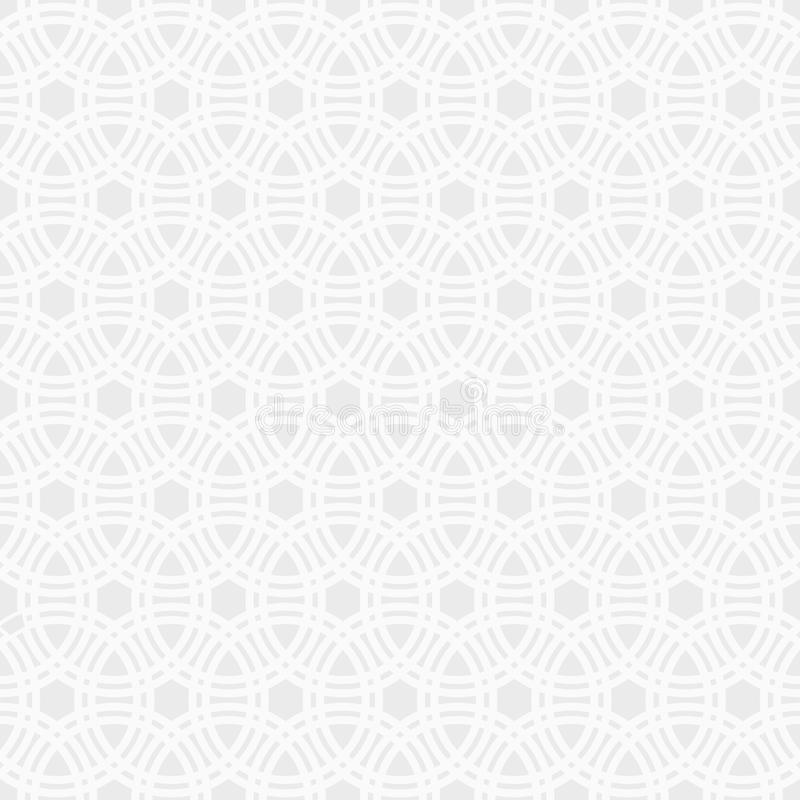 Abstract seamless pattern. Stylish geometric ornament. stock illustration