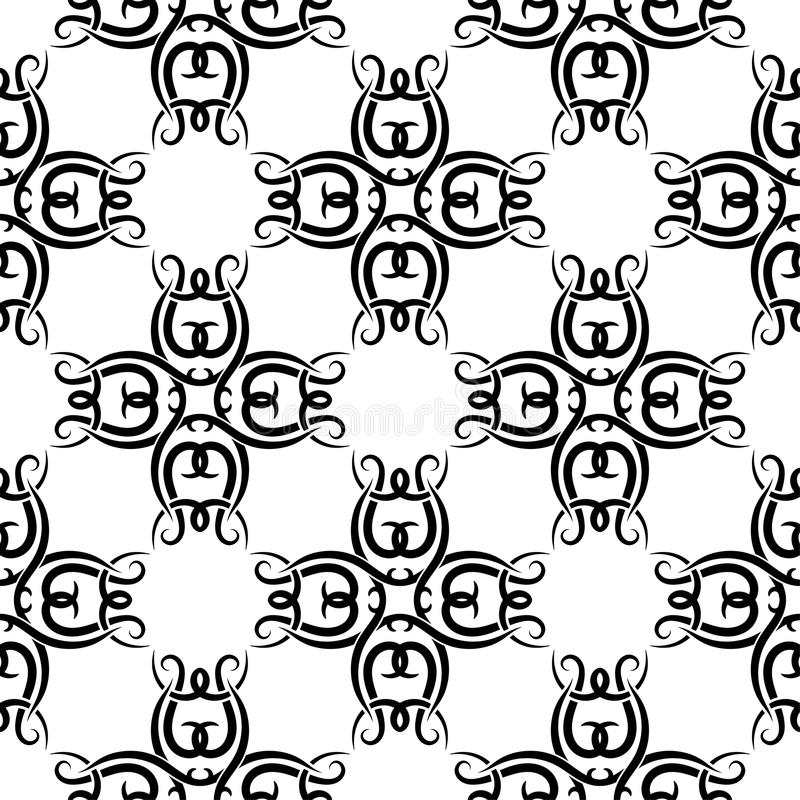 Abstract black and white seamless pattern for textile, fabrics or wallpapers vector illustration