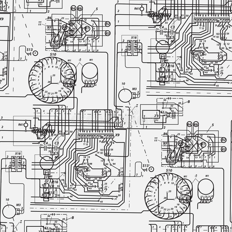 godown wiring diagram electrical abstract seamless pattern on the theme of science and ... #6