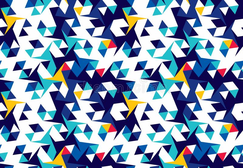 Abstract seamless pattern of triangles. Geometric texture. Pattern for bright youth clothes. Abstract seamless pattern of triangles. Geometric texture. Optical vector illustration