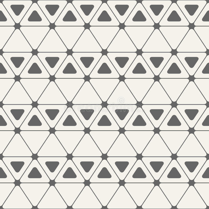 Abstract seamless pattern. Triangles with rounded corners. Vector background vector illustration