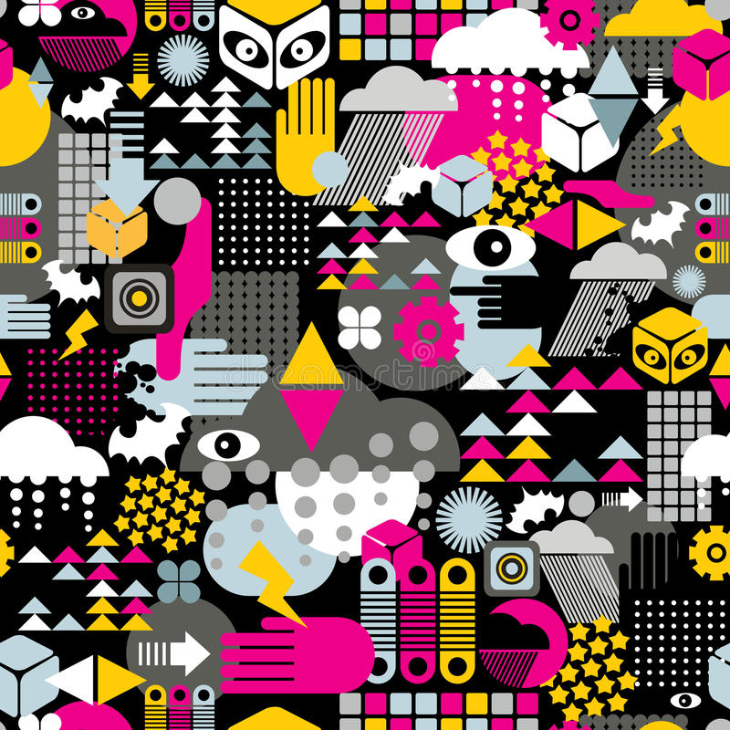 Download Abstract seamless pattern. stock vector. Image of monster - 32889970