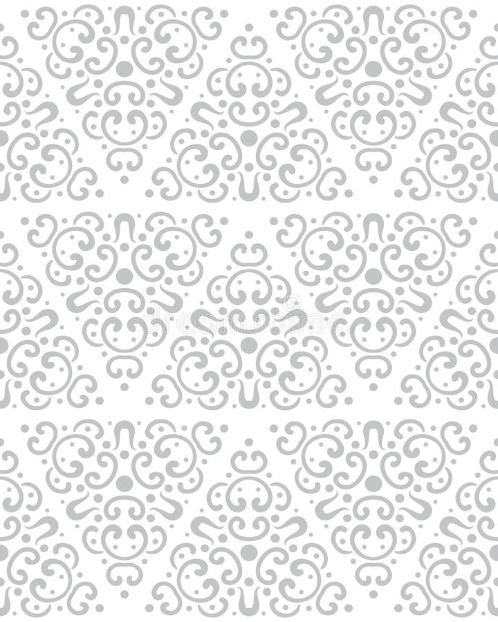 Abstract seamless pattern in vintage style. Interlocking shapes and textures. Pastel colors royalty free illustration