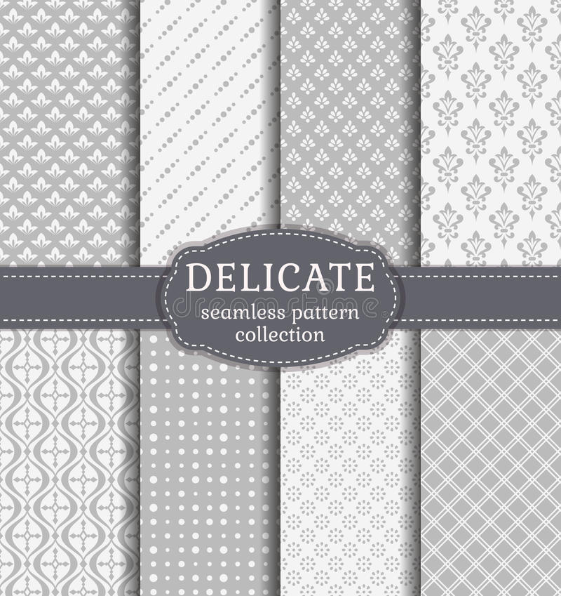 Abstract seamless patterns. Vector set. vector illustration