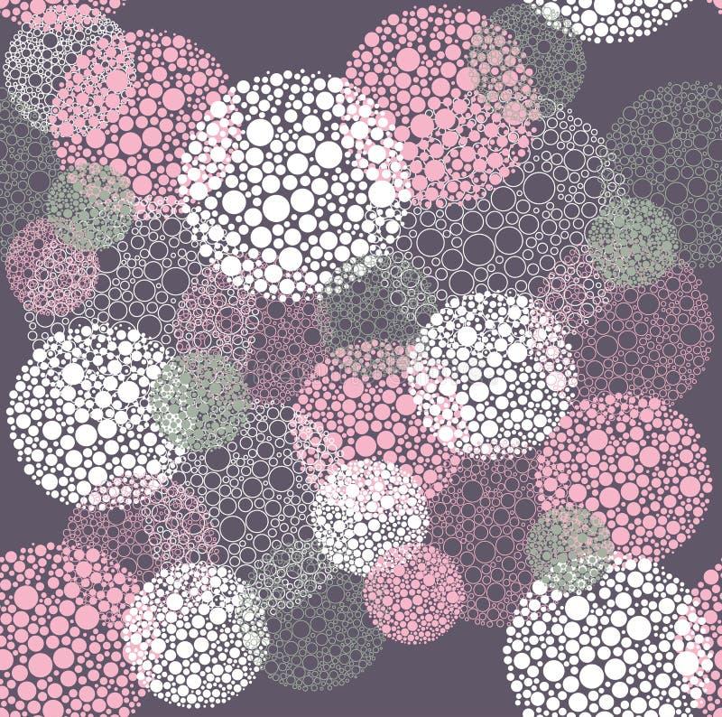 Abstract seamless polka dot circles pattern vector illustration