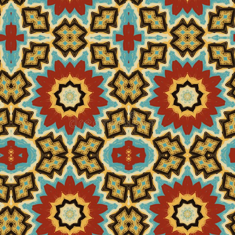 Abstract seamless psychedelic ethnic ornament royalty free stock images