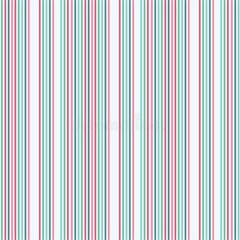 Abstract colourful vertical stripes on a pale background. A seamless repeat pattern ideal for fabric, scrapbooking and vector illustration