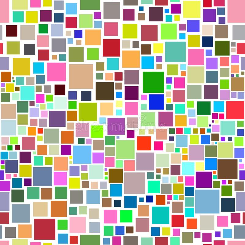 Download Abstract seamless squares stock illustration. Image of multicoloured - 23235742