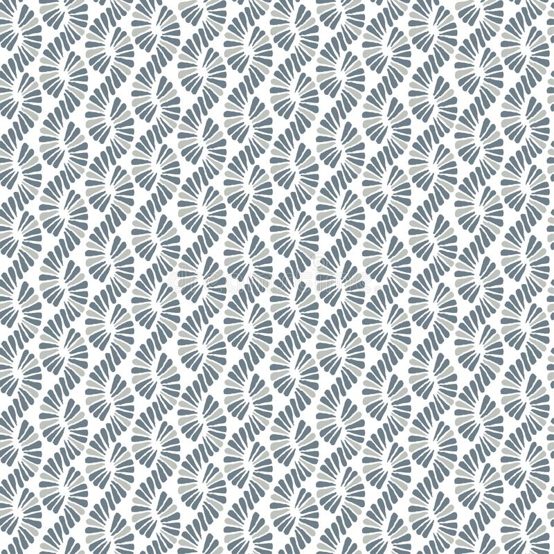 Abstract seamless vector nature ribbon pigtail grey retro patter. N for wrapping, fabric, textile, ceramic, craft stock illustration