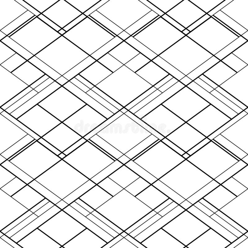 Abstract seamless vector pattern with black cross lines on a white background. For web sites backdrop, wallpaper design vector illustration