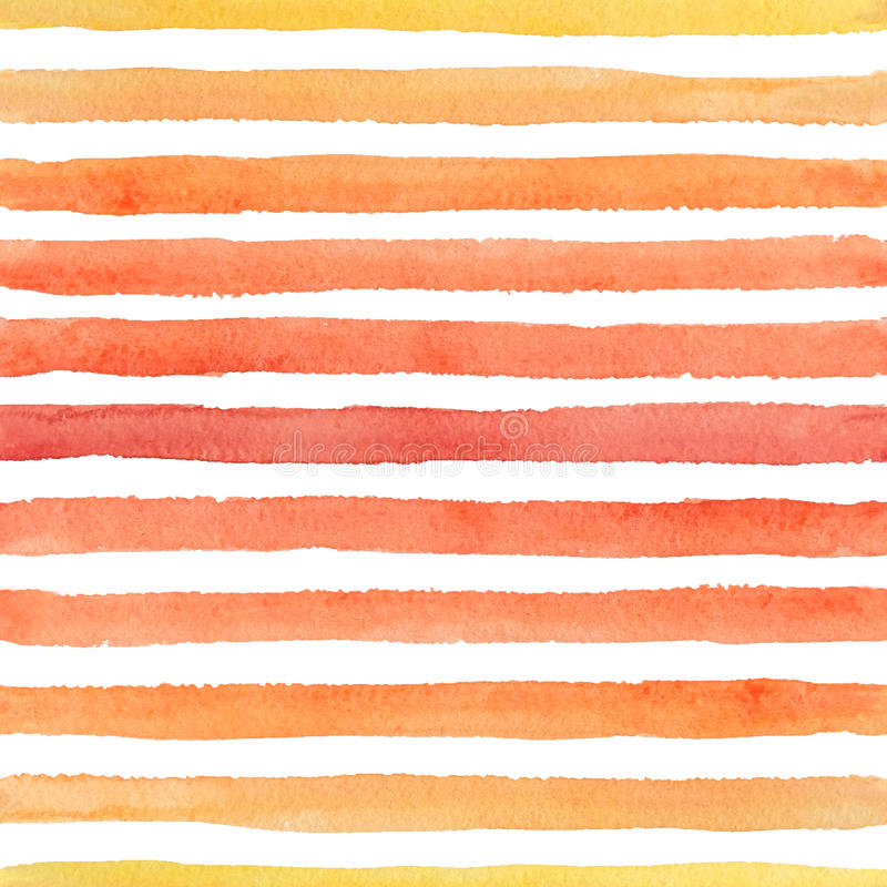 Abstract seamless watercolor pattern with colorful strokes on the white background stock images