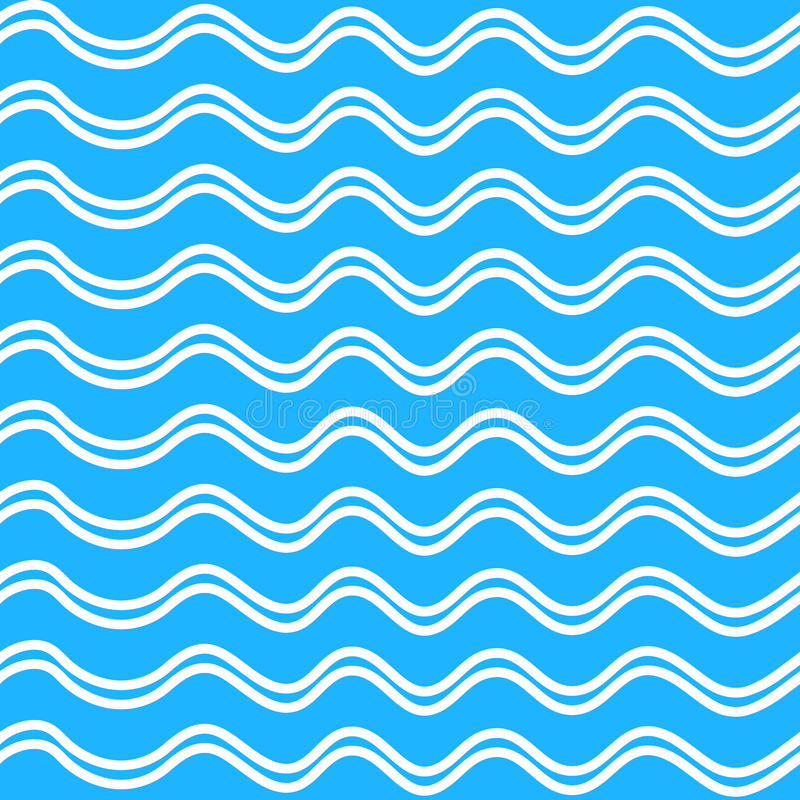 Abstract Seamless wave pattern on a blue background vector illustration