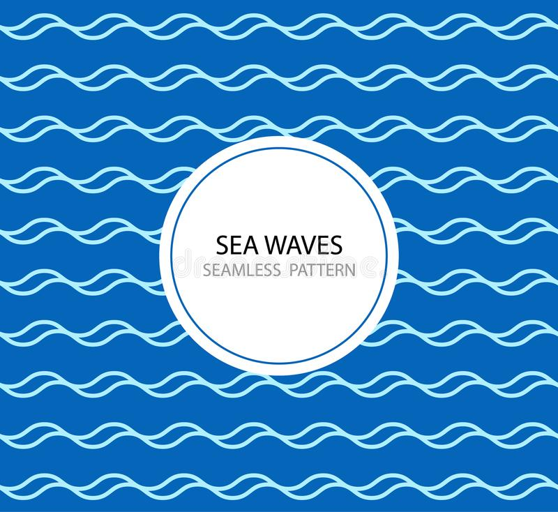 Abstract seamless wave pattern. vector illustration