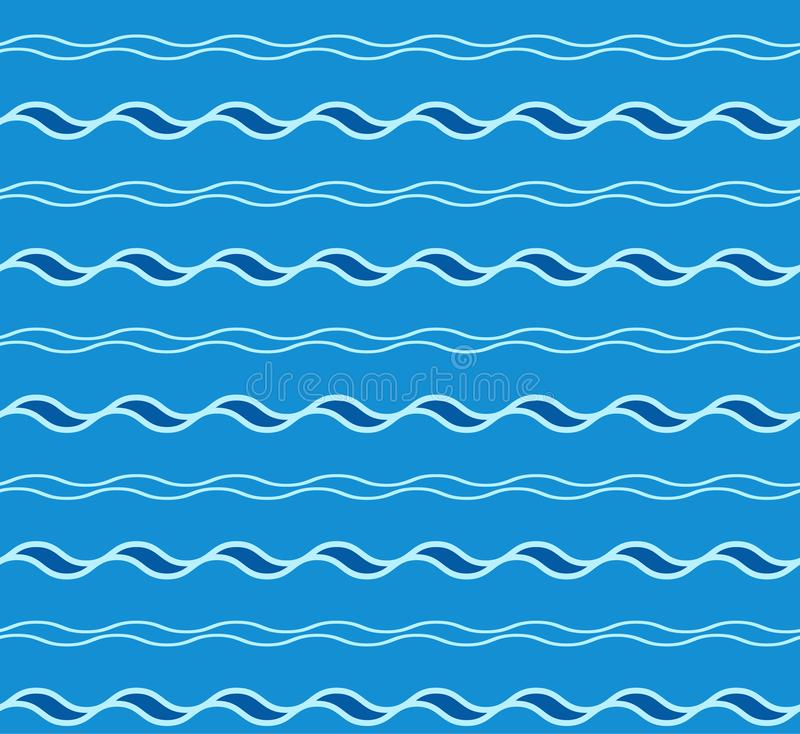 Abstract seamless wave pattern. royalty free illustration