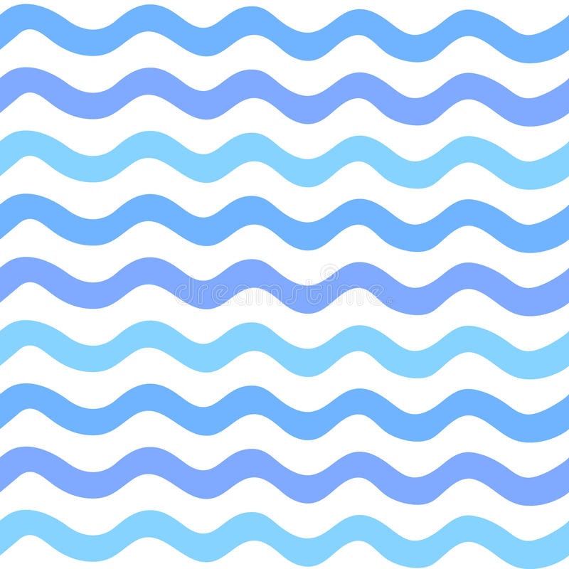 Abstract Seamless wave pattern painted by hand stock illustration