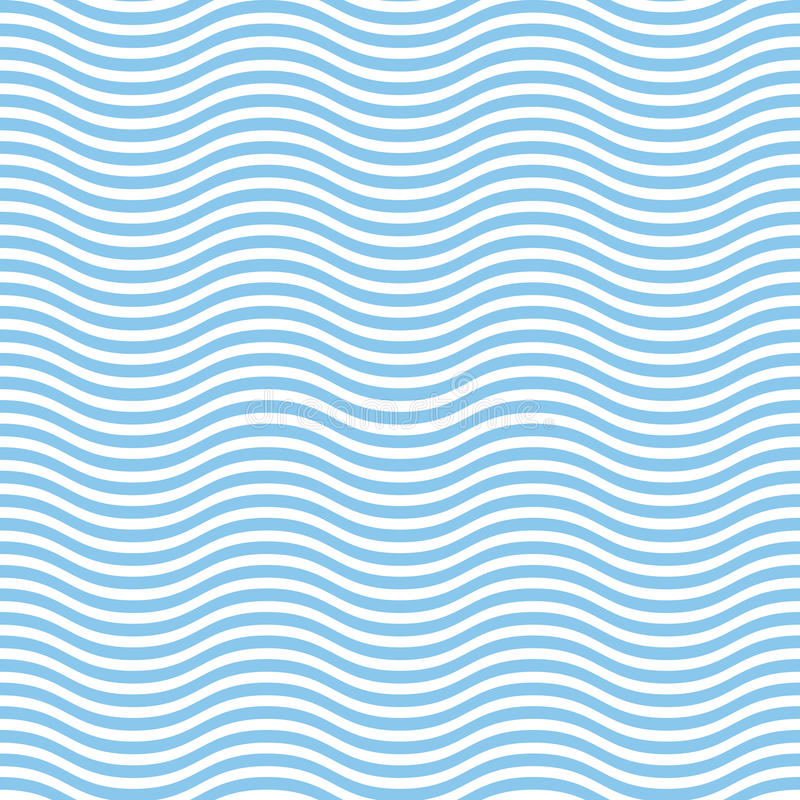 Abstract Seamless wave pattern royalty free illustration