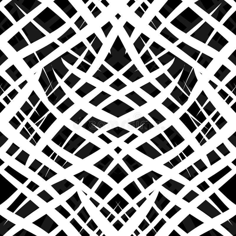 Abstract seamless zebra ornamental pattern royalty free illustration
