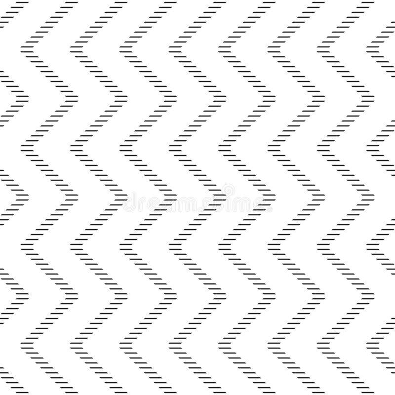 Abstract Seamless zigzag pattern vector illustration