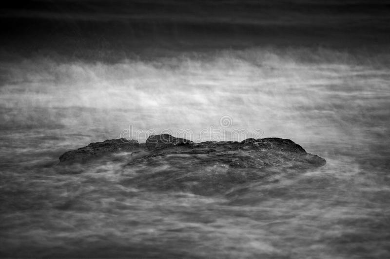 Abstract seascape in black and white. Long exposure photo stock photography
