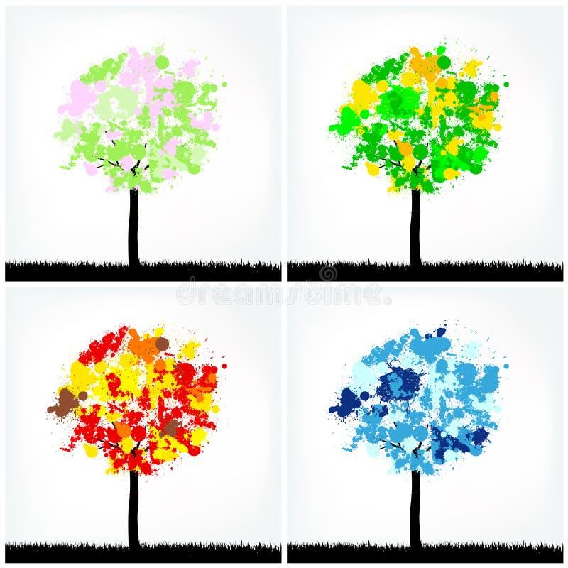 Download Abstract season trees stock vector. Illustration of green - 23523346