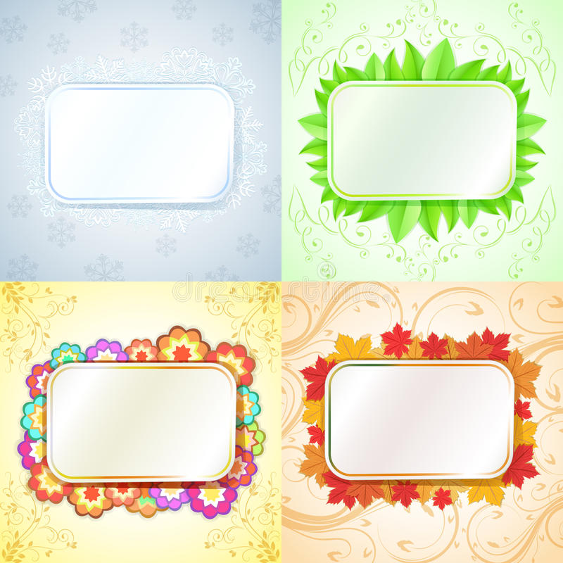 Download Abstract seasonal frames stock vector. Illustration of copy - 32092503