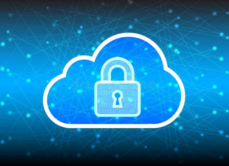 Abstract security cloud technology background, key lock and could technology background, Vector Illustration vector illustration