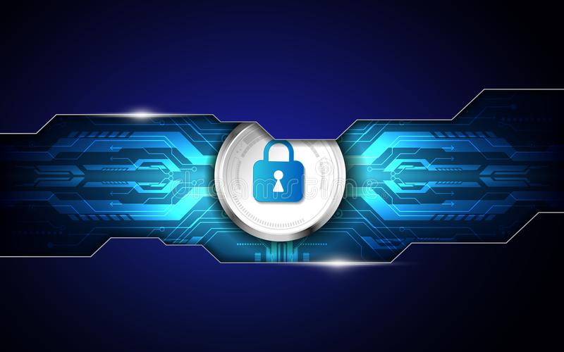 Abstract security digital technology background. Illustration Vector vector illustration