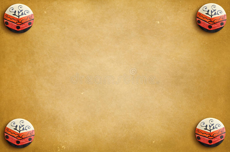Abstract sepia background with circular elements in the corner. Ready for your design stock photography