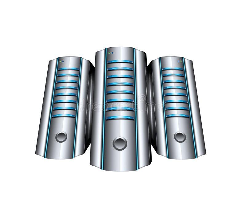 Abstract servers stock illustration