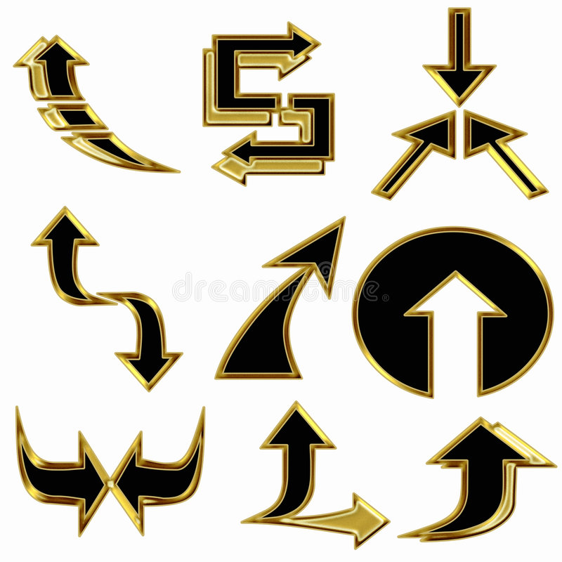 Download Abstract set of arrows stock illustration. Image of symbols - 6666291
