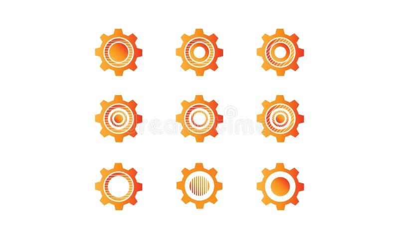 Abstract setting wheel , cogwheel vector concept royalty free stock photos